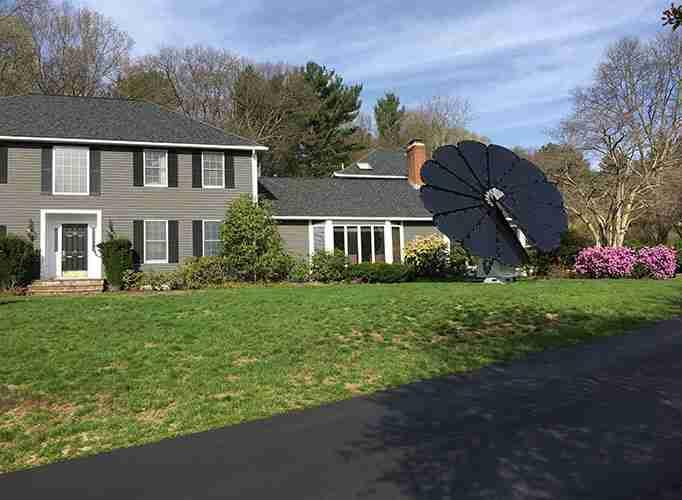 Solar home smartflower install