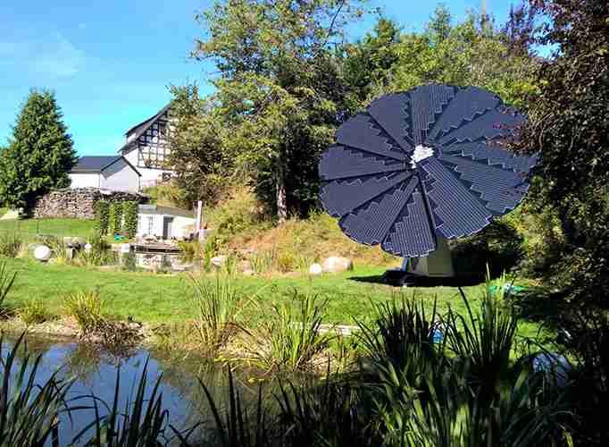garden smartflower solar install