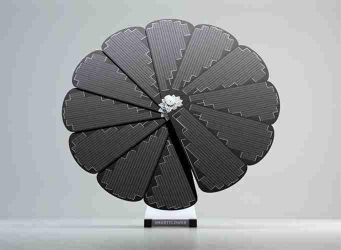 Smartflower solar panel fully open